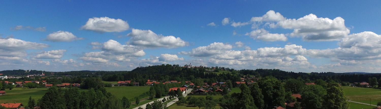 Panoramablick auf Gaissach
