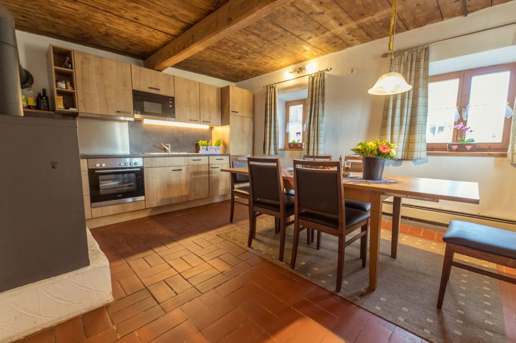 Wohnküche Ferienhaus Bergblick