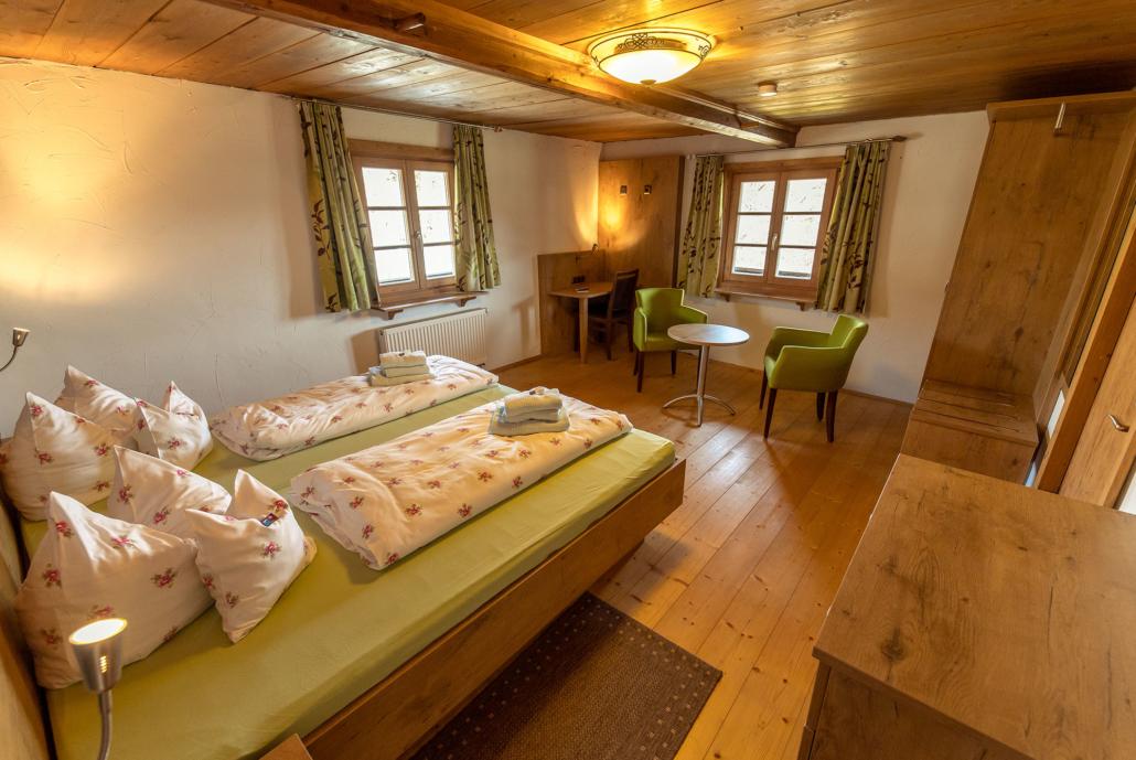 Eines von vier Schlafzimmern Ferienhaus Bergblick